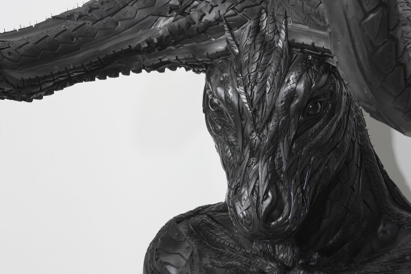 Tires Recycled into Sinister and Sinewy Sculptures  by Yong Ho Ji