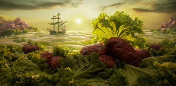Landscapes Crafted Out of Food by Carl Warner
