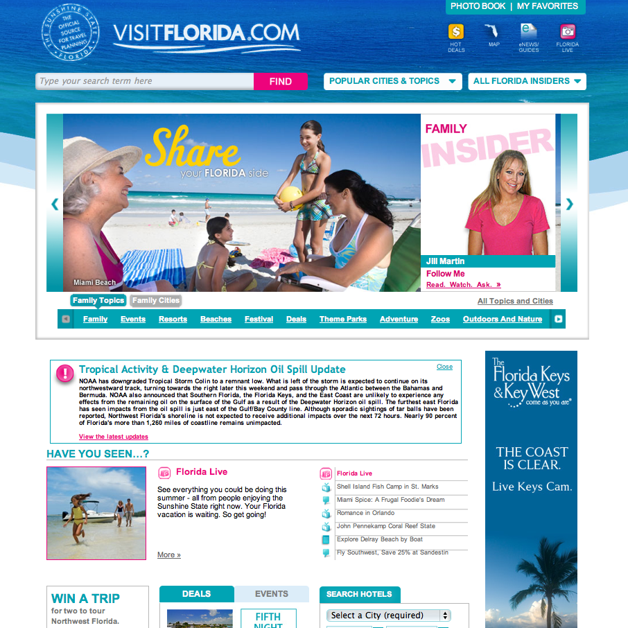 Visit Florida - Website, Digital Strategy, Social Media Strategy