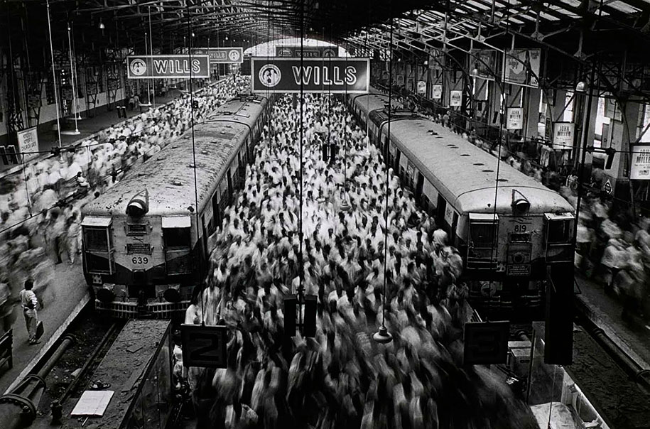 Churchgate Station, Western Railroad Line, Bombay, India (1995)