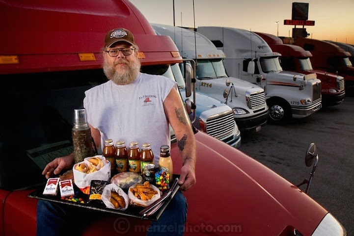 Truck driver Conrad Tolby. 5,400 calories. 54 years old, 6-feet-2-inches tall, 260 pounds.