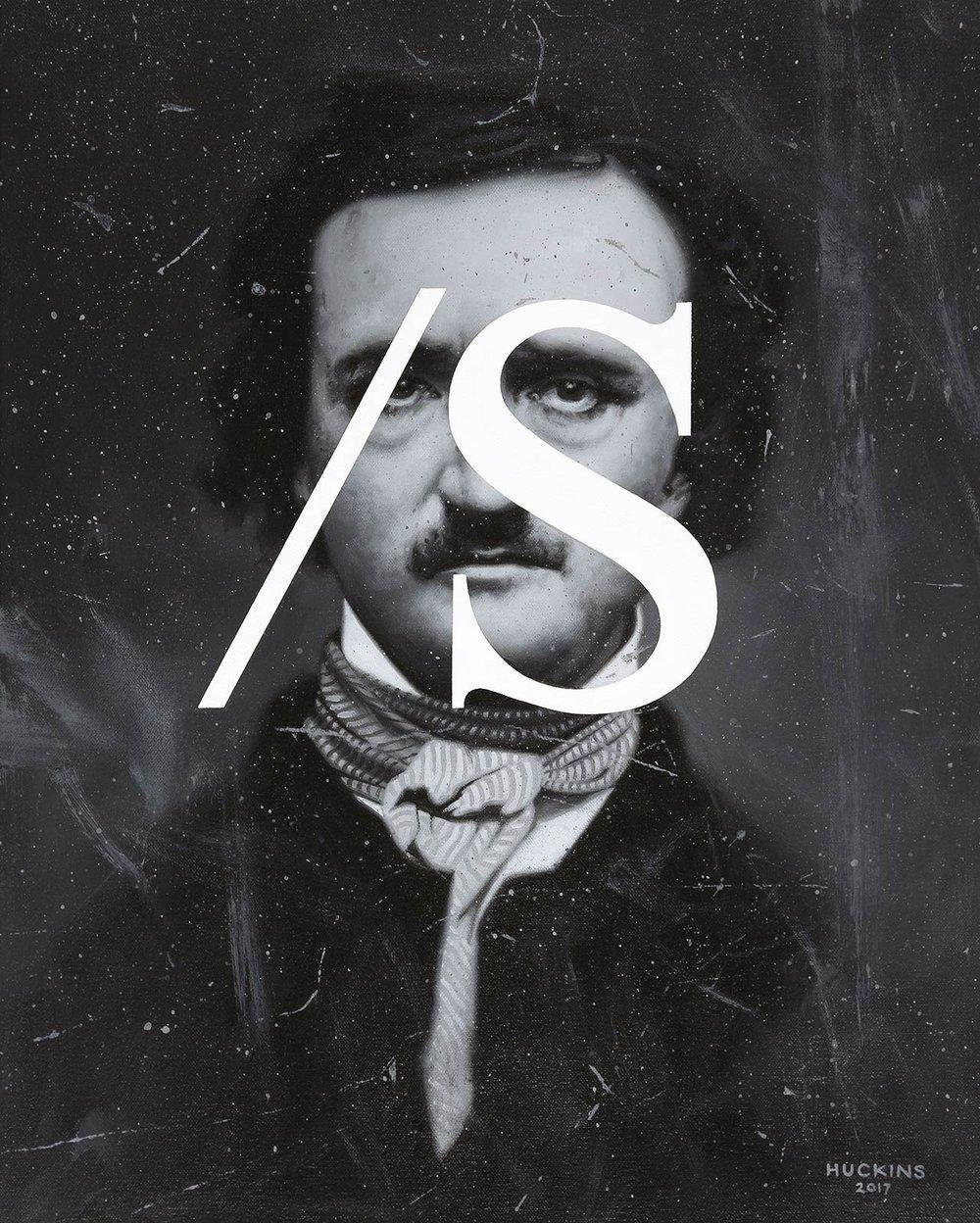 Edgar Allan Poe: Sarcasm Noted, 2017. Acrylic