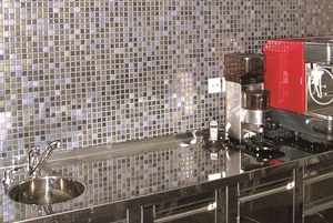 A cool backsplash is a great way to make a statement