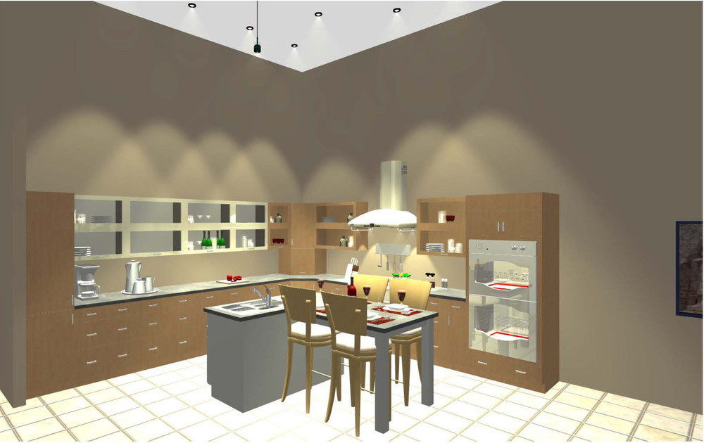 Rendering of Contemporary Kitchen in Devon, PA