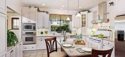 A beautiful all-white Canyon Creek kitchen
