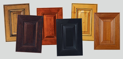 All of these Fairfax doors are the same style, with different species & finish selections.