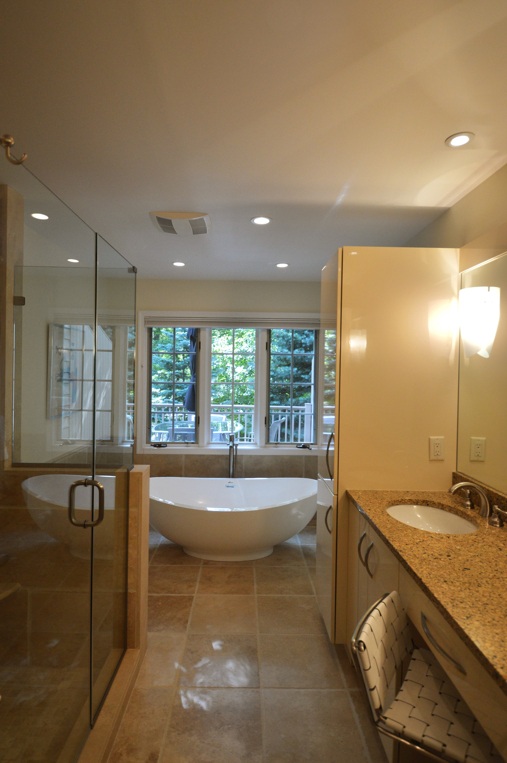 A new, contemporary bathroom