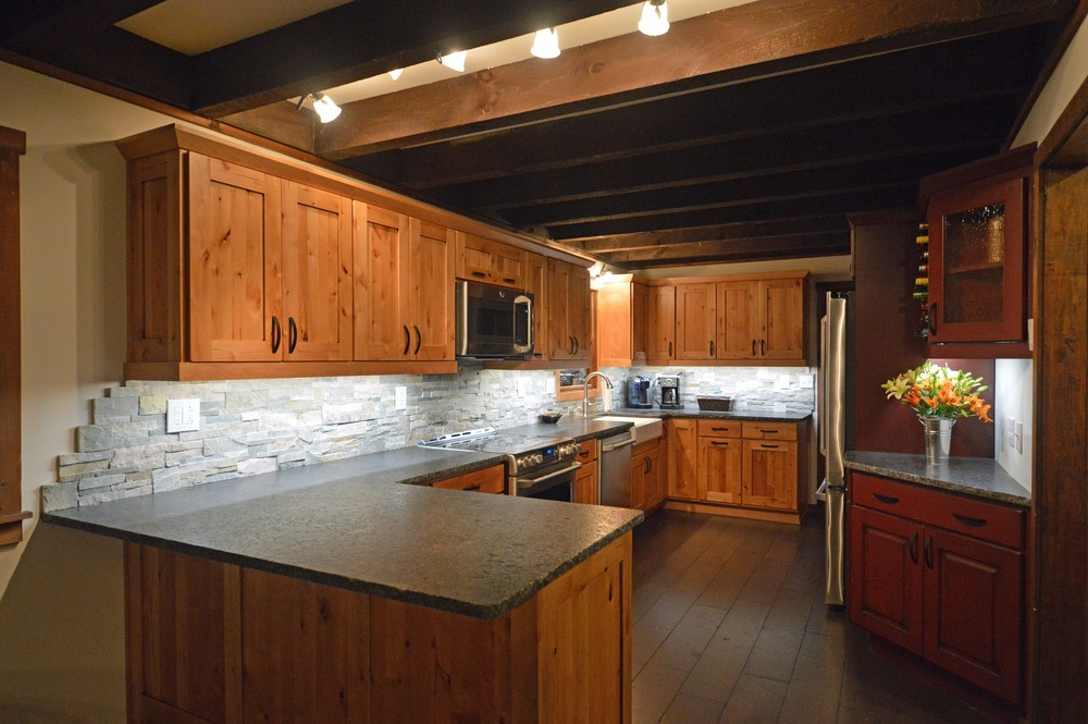 Rustic kitchen remodel in Bolton Landing, NY
