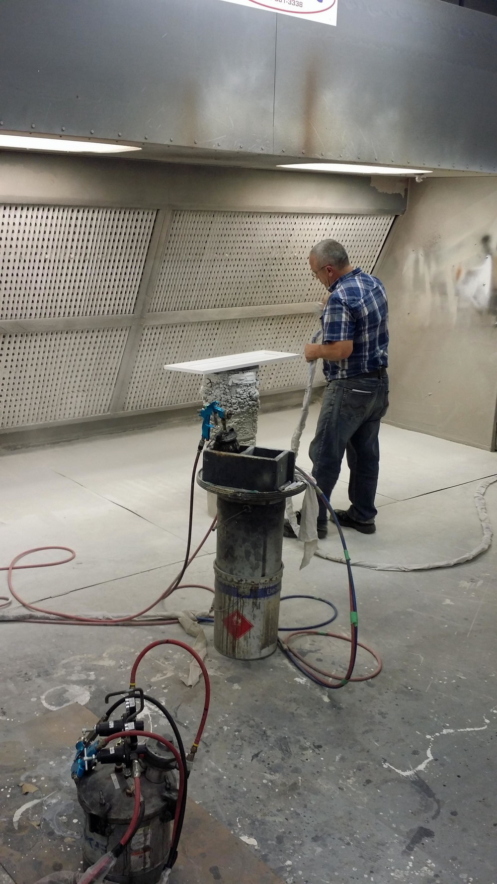 The spray booth