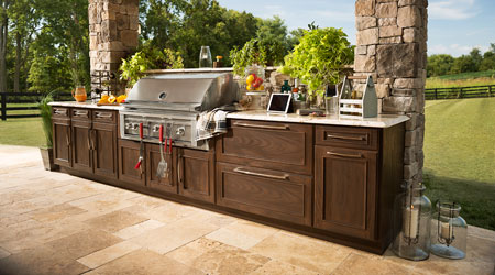 A Trex Outdoor Kitchen