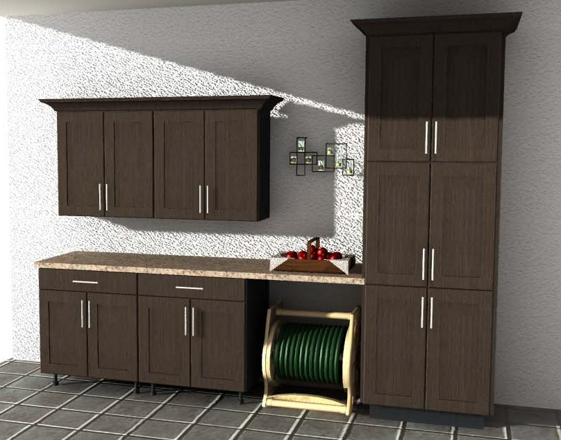 NatureKast Weatherproof Cabinetry 3-D Rendering