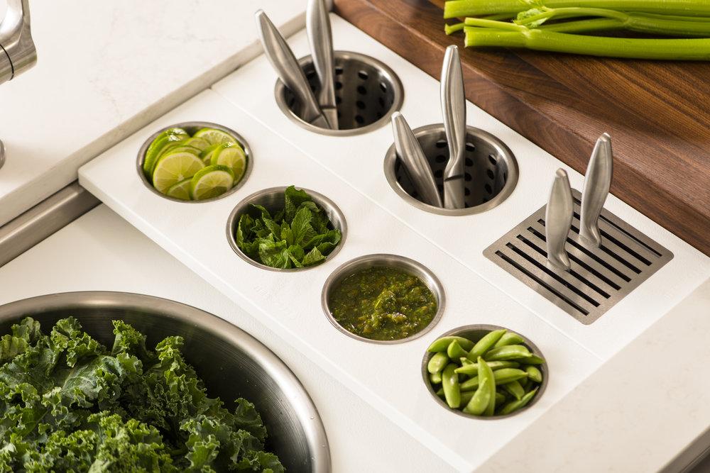 Prepare with Designer White Large Mixing Bowl, Garnish Serving Board, Utensil Caddy, Walnut Chef_s Block.jpg
