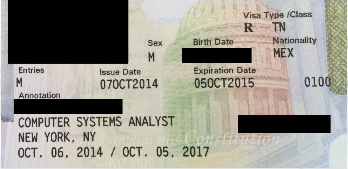 Mexican TN Visa Applicants Make Sure Consulate Annotates Stamp The Law Office Of Brian D Zuccaro PLLC