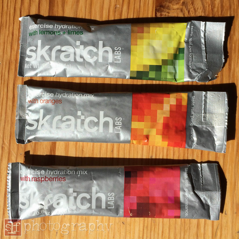 Skratch Labs Exercise Hydration is easy to mix with water. They are lightly flavored.