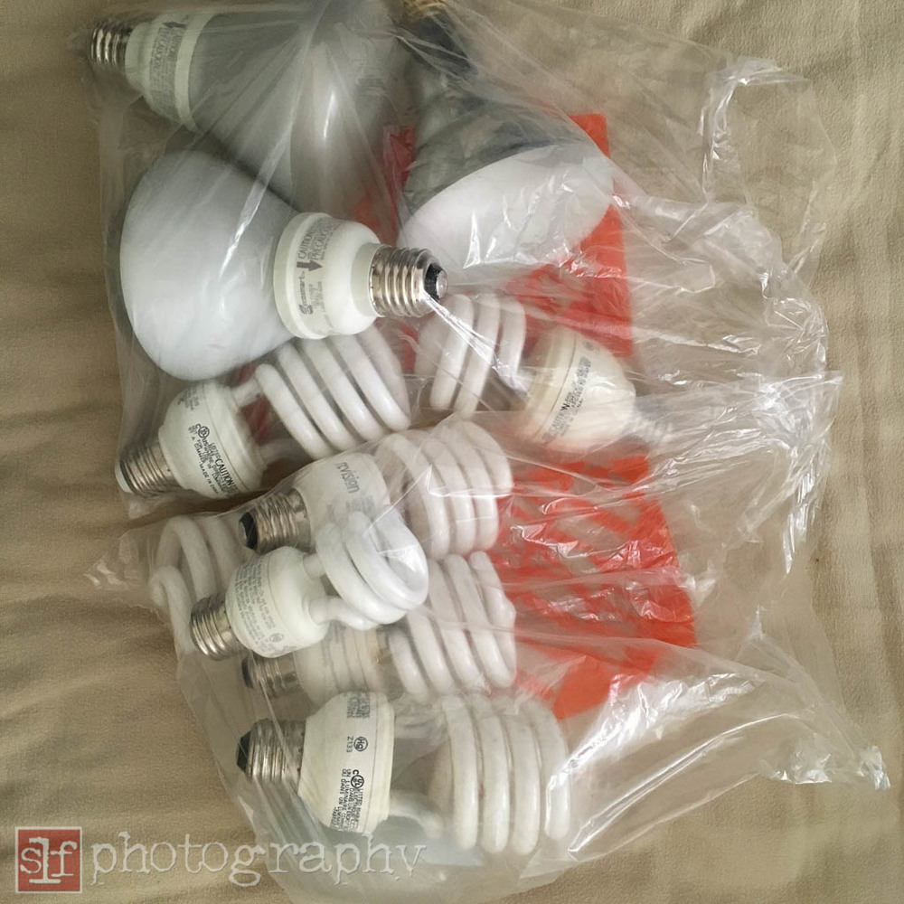 Half of the CFLs I need to recycle.