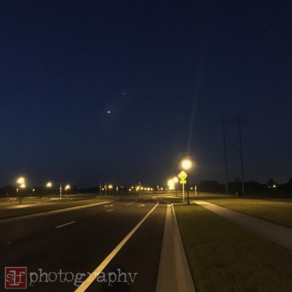 early morning ride along southbound wiregrass ranch boulevard