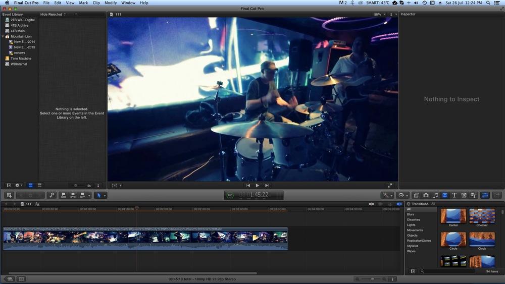 My general editing screen.