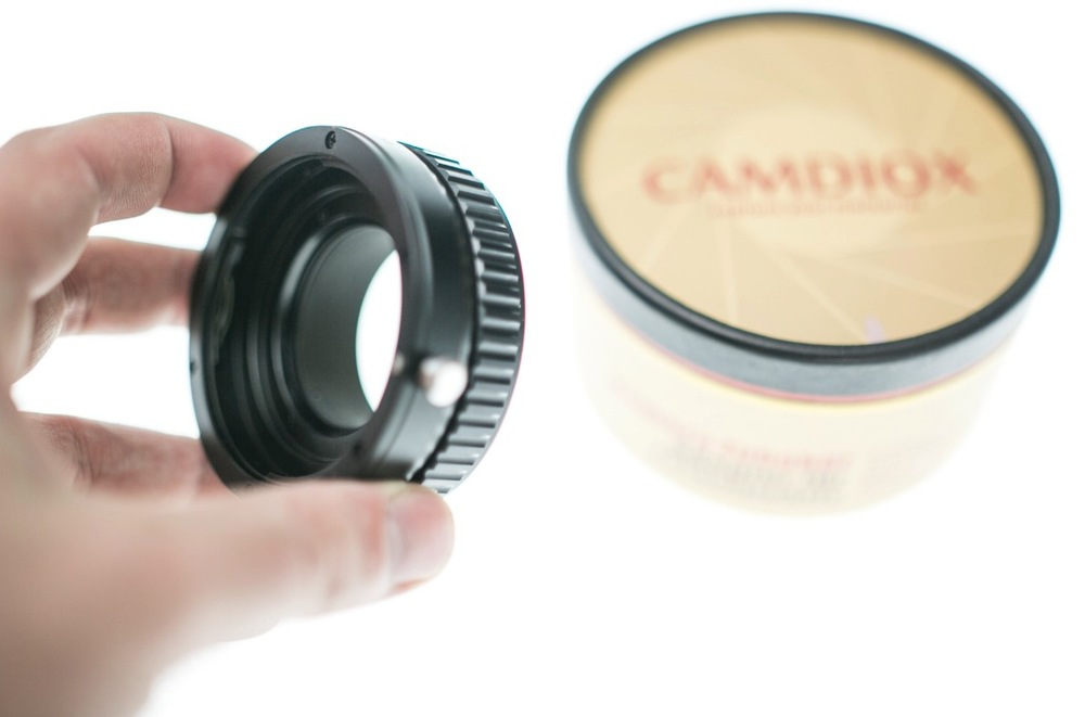 The Camdiox adapter I got on ebay, slightly more expensive than a standard adapter.