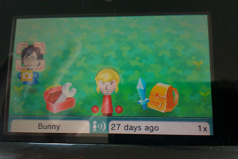 My first StreetPass ever on the Nintendo 3DS.