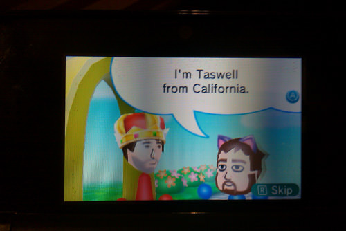 Meeting Ryan Davis's Mii.