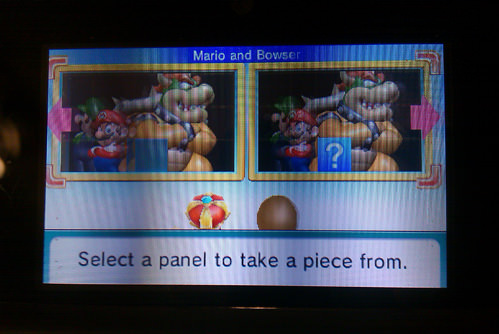 Patrick helped me finally complete my Mario and Bowser puzzle.