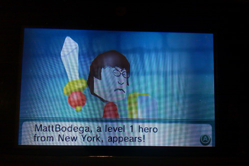 Matt Kessler helping me kill ghosts in Find Mii.