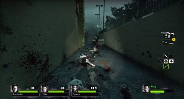 It was like this, but with way more zombies.