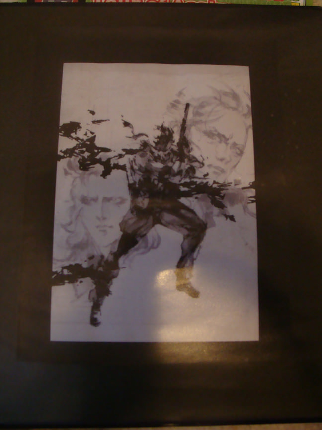 My binder for my trip to Japan. It's a drawing by Yoji Shinkawa for Metal Gear Solid 3.