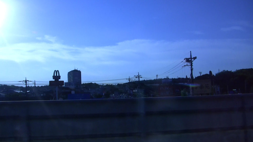 The view outside the Narita Express on our way to Shinagawa Station. This is the first McDonald's we saw.