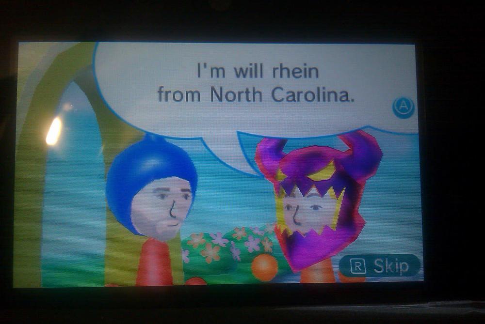 Meeting will rhein from North Carolina.