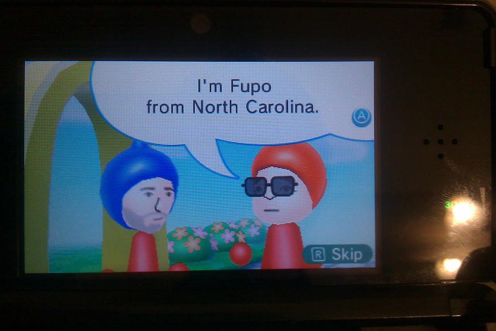 Meeting Fupo from North Carolina.