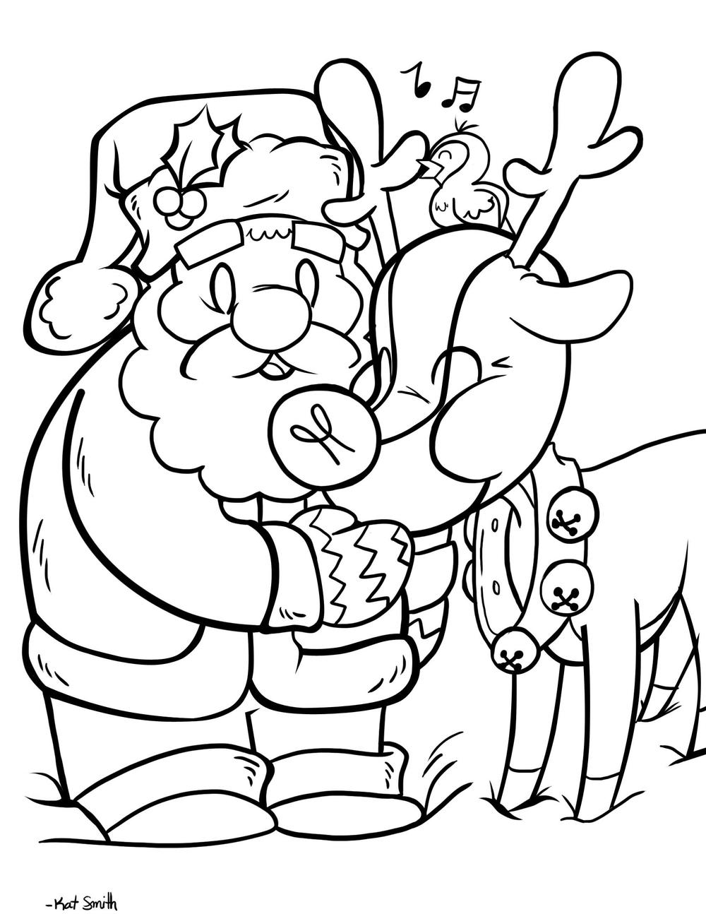 A drawing of Santa Claus by Kat Smith.