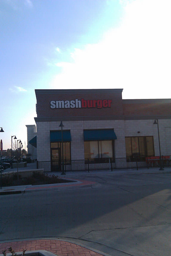 A picture I took of Smashburger on December 27th, 2010. I was with my mom and brother for Christmas. I took it because its logo is so similar to GameStop's.