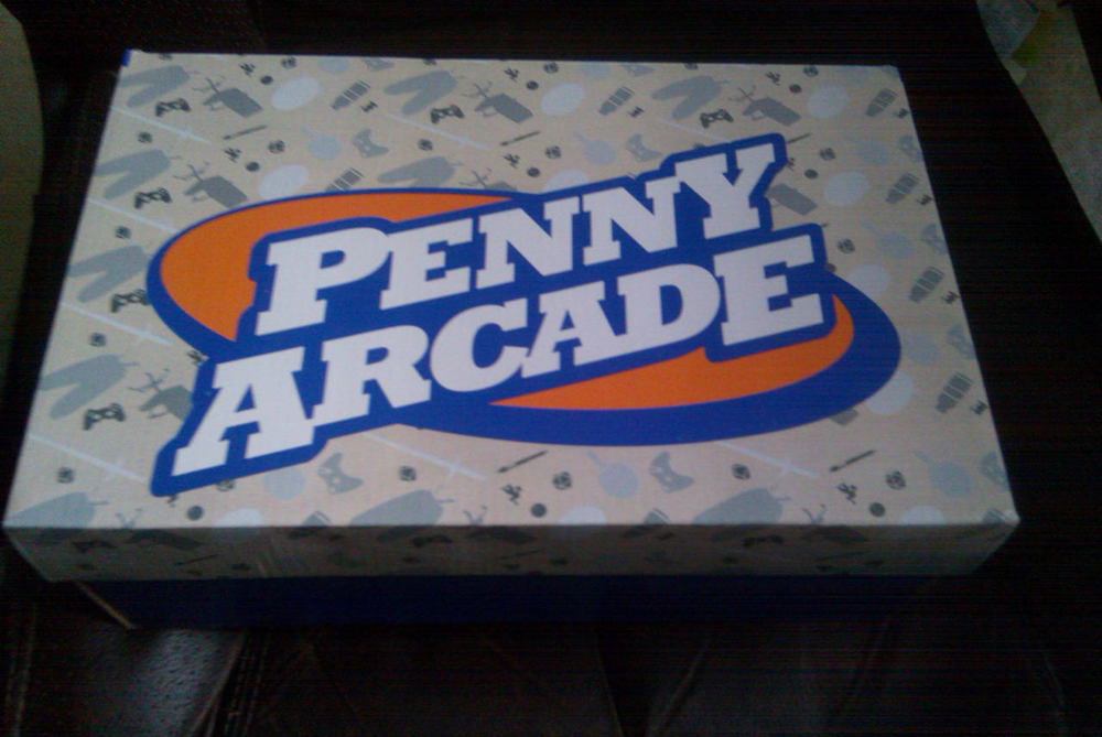 The box to my pair of Penny Arcade shoes.