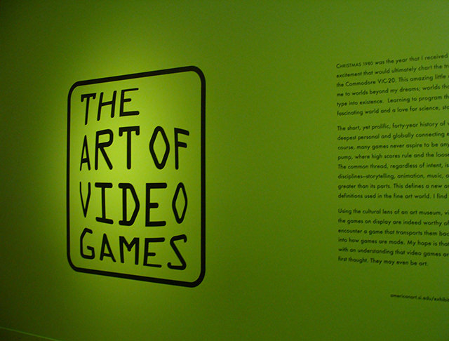 The Art of Video Games exhibit at the Smithsonian American Art Museum.