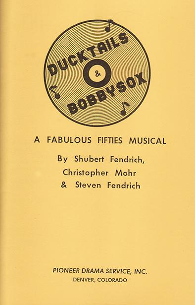 Ducktails & Bobbysox script