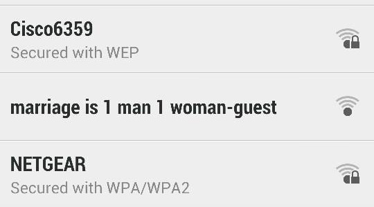My neighbors trying too hard with their WiFi SSID.