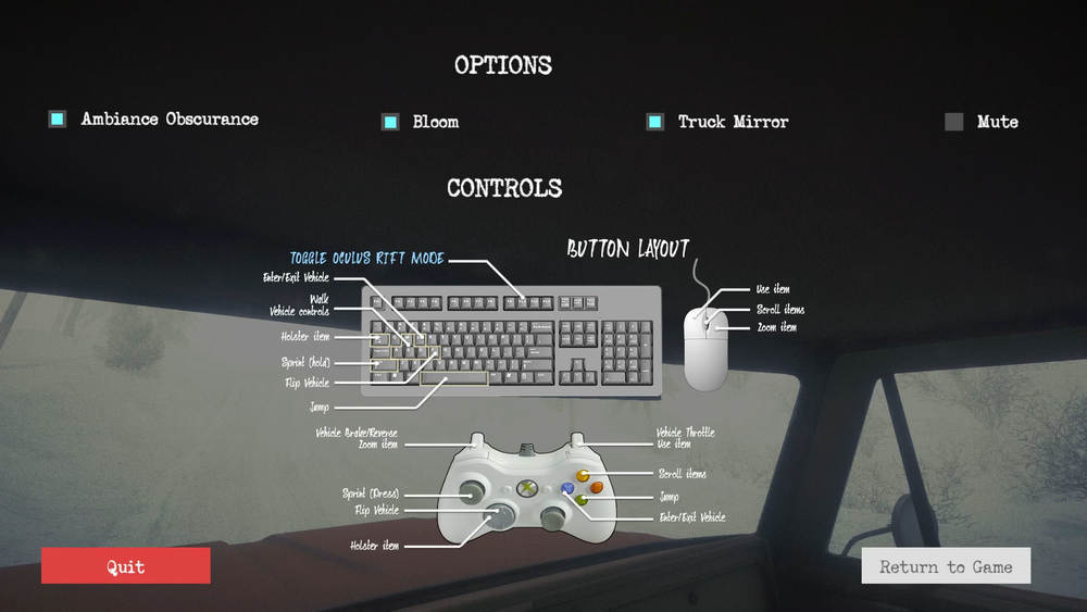 A screencap of Kôna's controls.