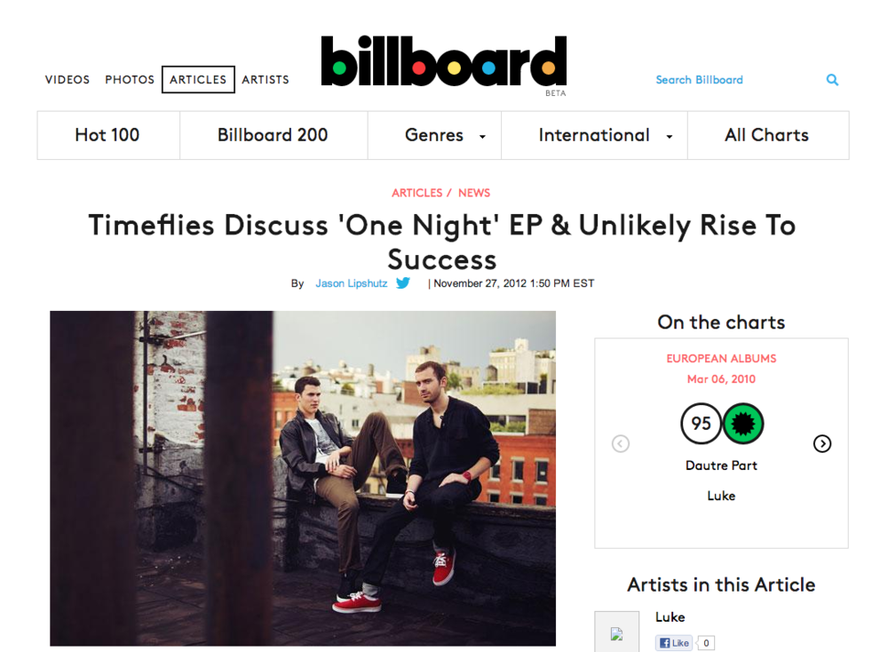 Timeflies Discuss  One Night  EP   Unlikely Rise To Success   Billboard.png