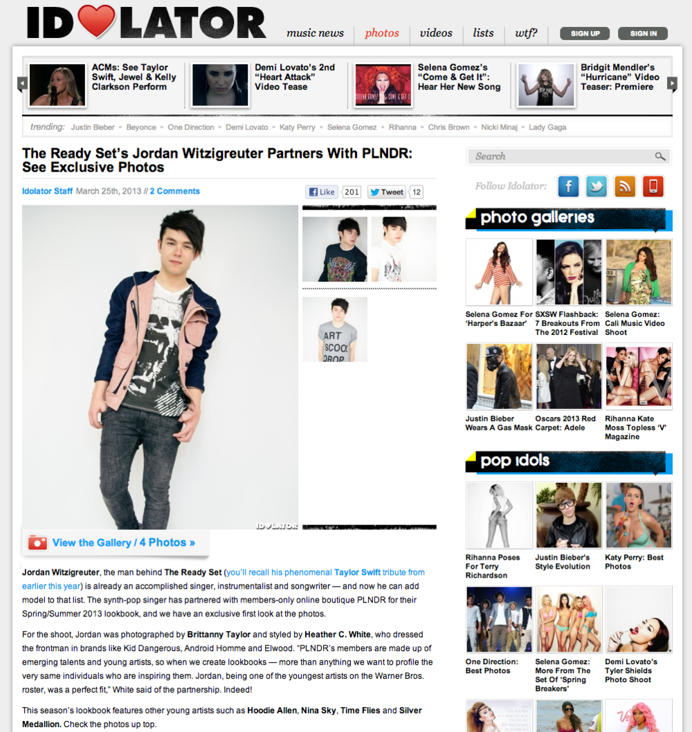 The Ready Set's Jordan Witzigreuter Partners With PLNDR  See Exclusive Photos   Music News  Reviews  and Gossip on Idolator.com.png
