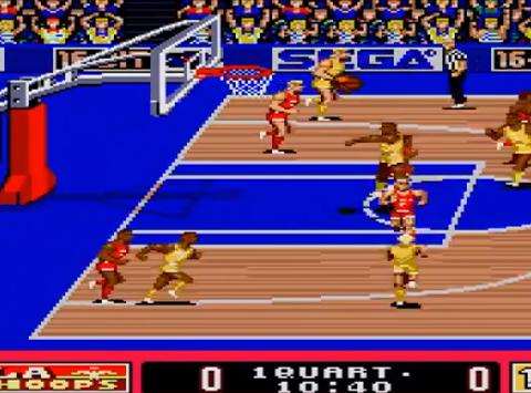 1990 Pat Riley Basketball, Genesis, Sega.png