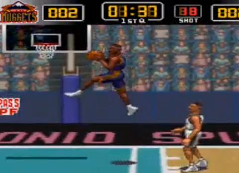 1995 NBA Give 'n Go, SNES, Konami.png