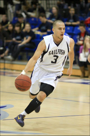 Nate Vera, point guard for Palm Beach Atlantic University, Florida