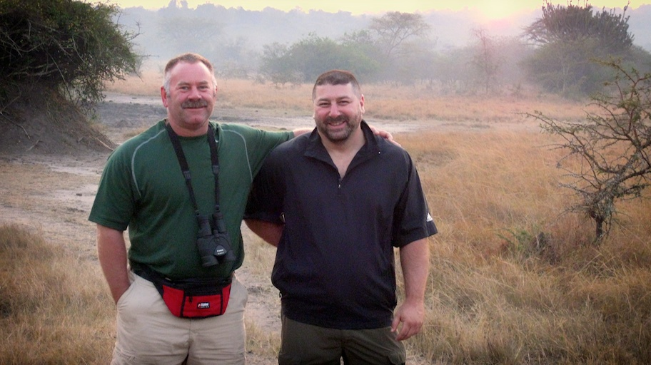 Leo and me on our walking safari