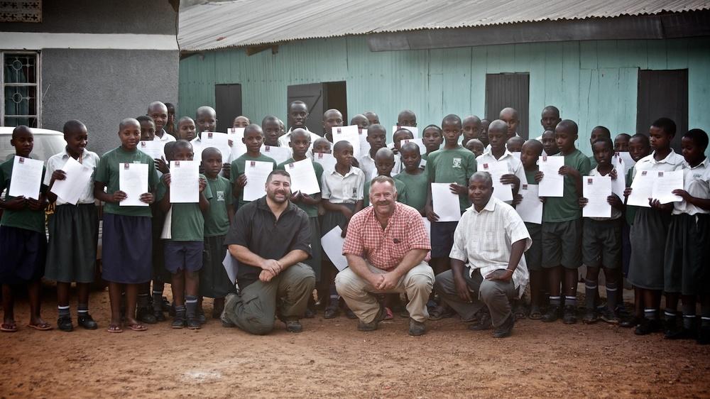 Visiting a School in Kabaale