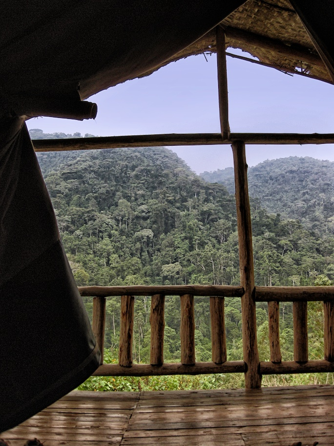 """The view from our """"tent"""""""