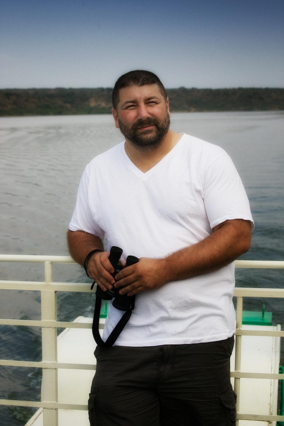 Me on the Kazinga River