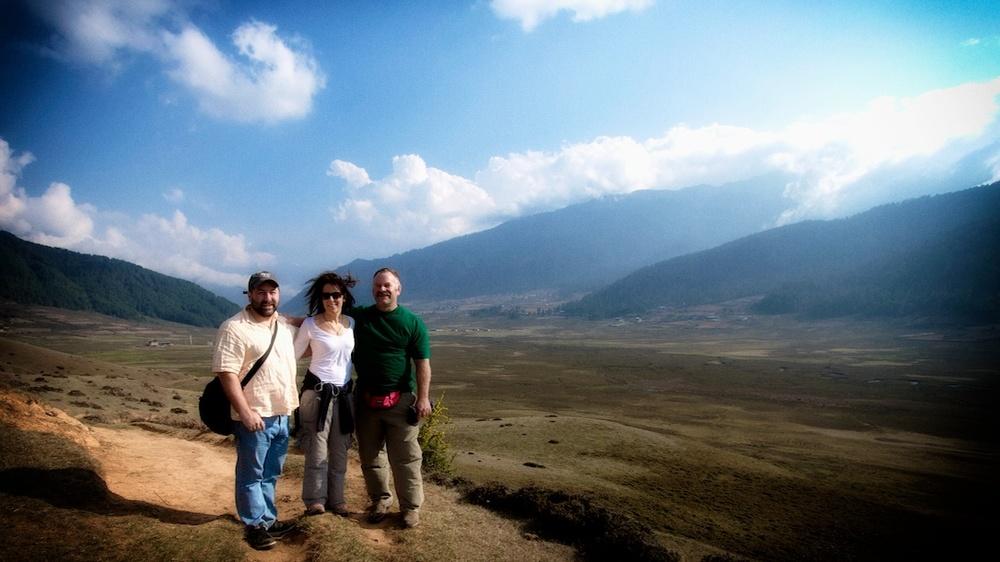 Walking in Phobjikha valley
