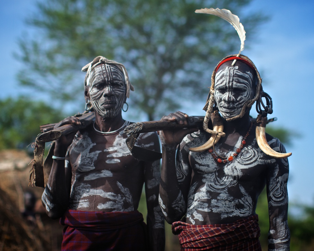 Mursi warriors