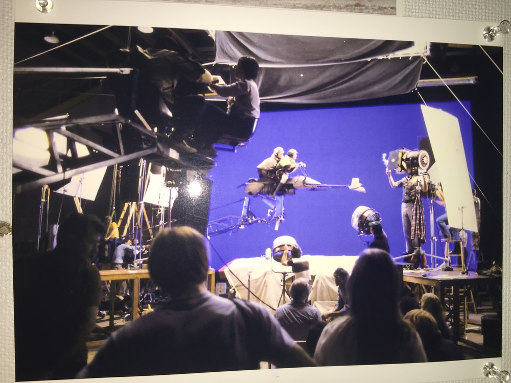Mark Hamill and Carrie Fisher shooting Star Wars EP 3
